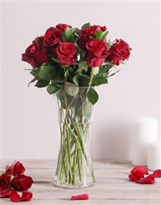 Red Roses in a Flair Vase