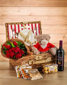Flowers: I Love You Picnic Basket!
