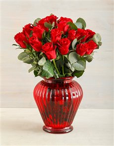 flowers: Really Red Rose Delight!