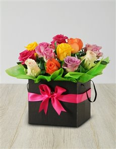 flowers: Mixed Roses in a Occasion Box!