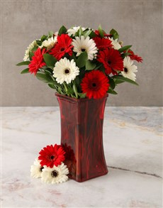 flowers: Deep Bloom Gerbera Array!
