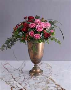 flowers: Pink And Red Valentines Flowers In Doha Pot!