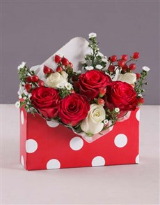 flowers: Valentines Polka Dot Rose Box!