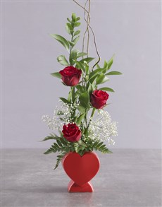 flowers: Starry Rose In A Heart!