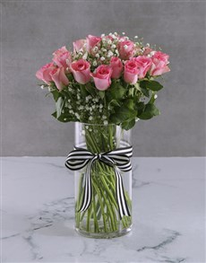 flowers: Passionate Pink Rose Vase!
