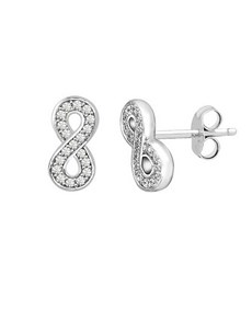 gifts: Silver Cubic Infinity Stud Earrings!