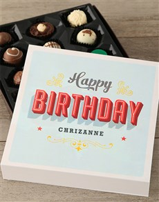gifts: Happy Birthday Chocolate Tray!