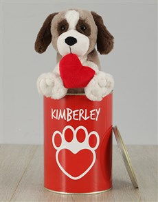 gifts: Personalised Puppy Heart Tin!