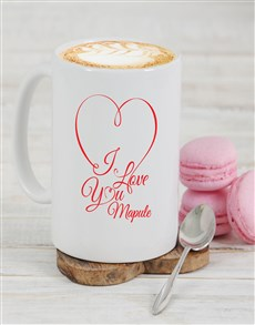 gifts: Personalised I Love You Mug!