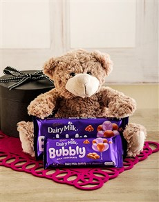 gifts: Gift Box with Teddy and Cadbury Chocolates!
