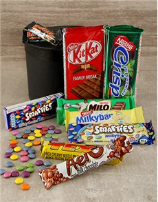 gifts: Large Hatbox Filled with Nestle Chocolates!