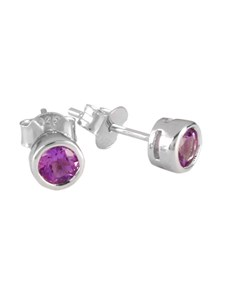 gifts: Sterling Silver Amethyst Stud Earrings!