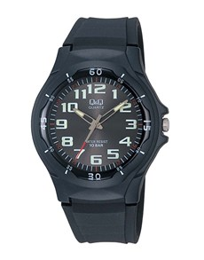 watches: QQ Gents Black Analogue Dial Watch!