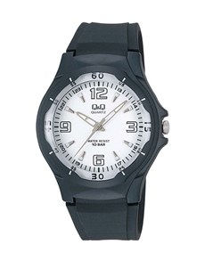 watches: QQ Gents Black and White Analogue Watch!