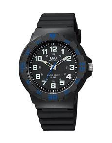 gifts: QQ Gents Black White and Blue Quartz Watch!