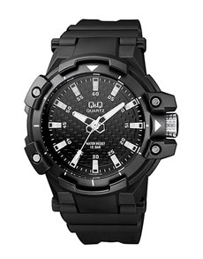 watches: QQ Gents Large Black and Grey Quartz Watch!