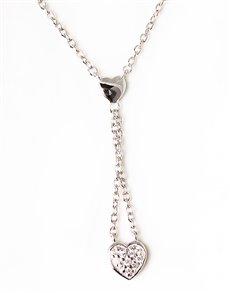 jewellery: Sterling Silver Open Heart Necklace !