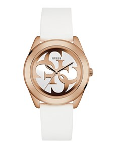 jewellery: Ladies White Rose G Twist Guess Watch!