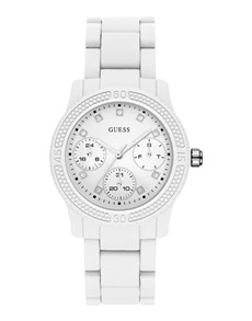 jewellery: Guess Ladies White Funfetti Watch!