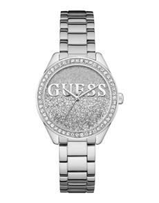 jewellery: Silver Glitter Girl Guess Watch!