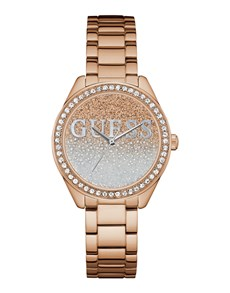 jewellery: Rose Gold Glitter Girl Guess Watch!