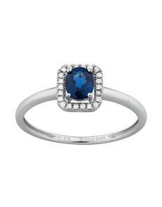 jewellery: 9KT Diamond and Sapphire Ring W280!