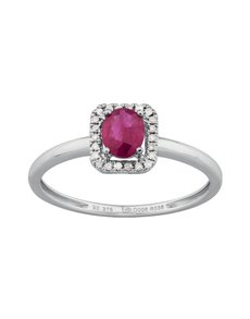 jewellery: 9KT Diamond and Ruby Ring W283!