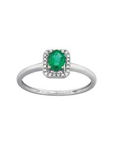 jewellery: 9KT Diamond and Emerald Ring!