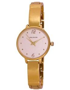 watches: Hallmark Ladies Round Gold Bangle Watch!