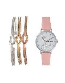 jewellery: Hallmark Ladies Pink Love Knot Gift Watch!