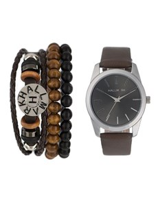 gifts: Hallmark Gents and Bead Bracelet Watch Set!