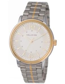watches: Hallmark Gents Two Tone Bracelet Strap Watch!