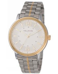 jewellery: Hallmark Gents Two Tone Bracelet Strap Watch!