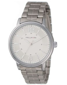 gifts: Hallmark Gents White Round Dial Watch!