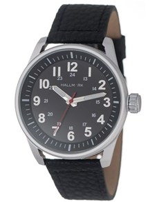 watches: Hallmark Gents Classic Black Dial Watch!