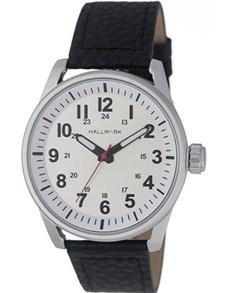 watches: Hallmark Gents Silver White Watch!