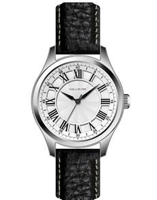 watches: Hallmark Gents White Dial Black Watch!