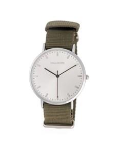 watches: Hallmark Gents Olive Canvas Strap Watch!