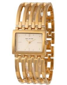watches: Hallmark Ladies Gold Ribbed Wide Watch!
