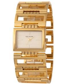 watches: Hallmark Ladies Wide Gold Watch!