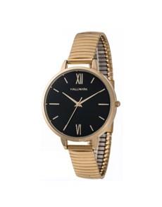 watches: Hallmark Ladies Black Dial Stretch Strap Watch!