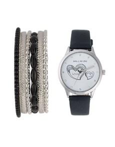 watches: Hallmark Ladies Black Heart Watch Gift Set!