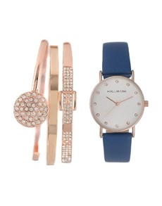 jewellery: Hallmark Ladies Blue Watch Gift Set!