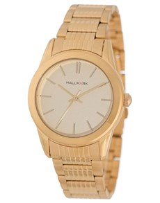 watches: Round Dial Gold Hallmark Gents Watch!