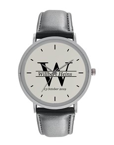 watches: Gents Round Initial and Date Personalised Watch!