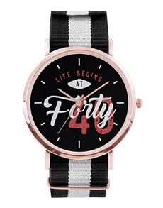 jewellery: Personalised Life Begins Rose Gold Watch!