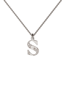jewellery: Memi Personalised Silver Initial Pendant !