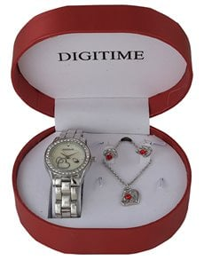 watches: Digitme Silver Watch and Jewellery Box Set  !