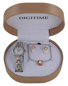 watches: Digitime Watch and Jewellery Box Set Twotone!