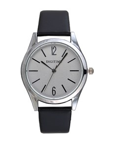 watches: Digitime Timeless Silver and Black Watch!